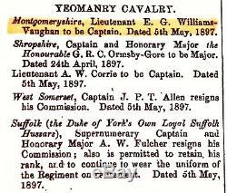 Argent Meilleur Swordsman Trophée Tabatière. Montgomeryshire Yeomanry Cavalerie 1900