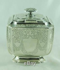 Argent Thé Victorien Caddy Atkin Brothers Sheffield 1895 220g Bzx