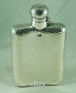 Argent Victorienne Flasque William Neale Birmingham C1892 242g Bazx009
