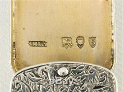 Argent Victorienne Fob Case & Miniature Dictionnaire Par Sampson Mordan & Co Hm 1893