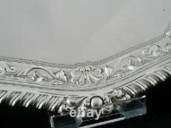 Attractive Antique Silver Salver, Londres 1897, Josiah Williams & Co