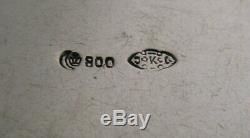 Belle Allemande 800 Argent Massif Cherub Priser Ou Pilulier Antique C1900
