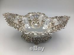 Belle Argent Solide Victorienne James Dixon Pierced Bowl & Sons Sheffield 1893