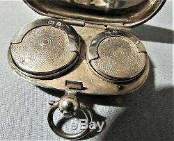 Belle Poinçonnés Argent Double Souverain Case Par Joseph Gloster Londres 1899