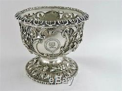 Belle Silver Monté Armorial Bol, Londres 1839 Reily & Storer Coat-of-arms