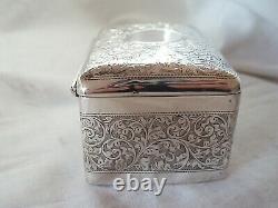 Boîte À Bijoux Edwardian Sterling Silver Birmingham 1904