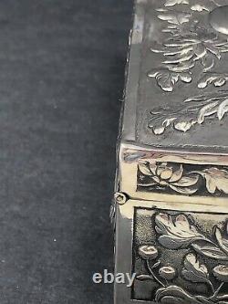 Boite À Bijoux En Argent D'exportation Chinoise Hung Chong Canton & Shanghai