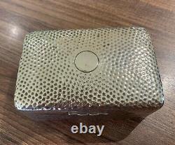 Boîte À Bijoux/boîte À Bijoux D'antique En Argent Sterling (non Scrap)