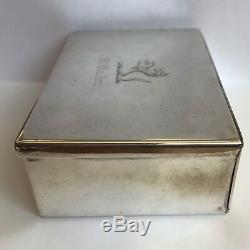 Boîte À Sandwich Antique Victorienne En Argent Massif Par James Dixon & Sons 1897 12.5cm