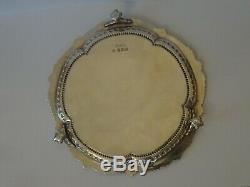 Bon Antique Victorienne Anglais En Argent Sterling Salver / Waiter / Tiroir De Carte C1897
