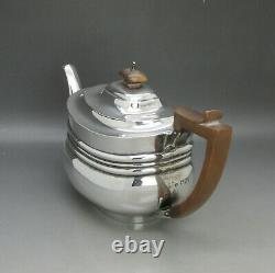 Bon Victorien Solide Serling Silver 3ps Bachleors Tea Service 603g London 1895