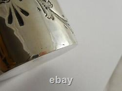 Bon Victotrian Solide Sterling Silver Tea Caddy Canister Atkin Bros 1894 76g