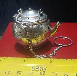 Bouilloire À Thé Miniature En Forme De Passoire À Thé Antique Avec Motif Floral Victorien