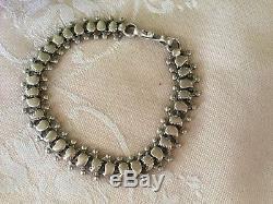 Bracelet À Chaînes Articulées En Argent Sterling D'époque Victorienne D'époque