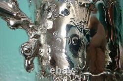 C1865 Relief Proéminent Solide Victorian Argent Sterling 925 Tasse Baptême De Calice