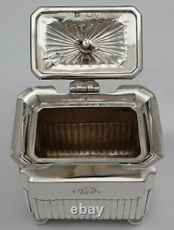 Caddie Victorien De Thé Sterling De Qualité, Gs&ss Co. Londres 1894, 98mm, 159g