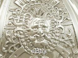 Carafe À Décolleterie Carrington & Co 1897 En Argent Sterling Et Verre Clair