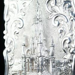 Carte Victorienne D'argent Château Cas De Scott Monument Frederick Marson 1856