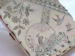 Cas De La Carte De Conception Papillon De Fan D'oiseau De Fleur D'oiseau Japonais Grue Japonaise