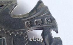 Chaîne D'horlogerie En Argent Victorien Antique Avec Barre En T Albert & Shield Fob