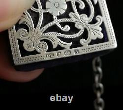 Châtelaine Antique D'argent Victorien, Outils De Couture