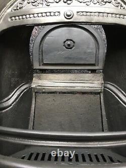 Cheminée En Fonte / Fire Surround / Insert / Victorian Arch Style / Solid Fuel