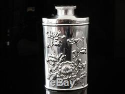 Chinese Export Argent Talc Flask Shaker, Hongxing C. 1900