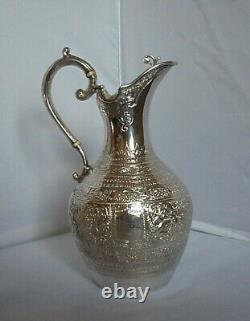 Claret Jug Victorian Sterling Silver Glasgow En 1890