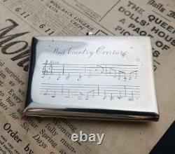 Coffret De Cigarettes En Argent Antique, Portes Musicales, Argent Sterling Victorien