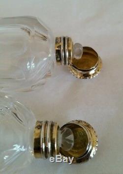 Coffret / Support De Bouteille De Parfum Victorien. Monture En Coquille D'escargot Vert