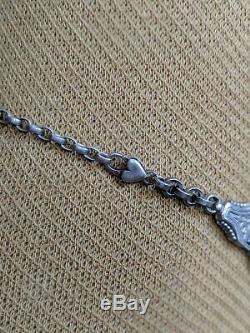 Collier En Robe De Chatelaine 4 Antique En Argent Sterling Des Années 1880 Avec Mouvement Esthétique