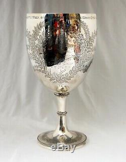 Coupe De Trophée En Argent Sterling De 588gm. Smithfield Show 1886. Snailwell, Newmarket