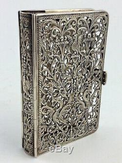 Couverture De Livre Ancienne En Argent Sterling, Reliure Samuel Jacob London