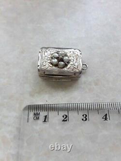 Diamond & Pearl Set Argent Vinaigrette Hilliard & Thompson Birmingham 1879