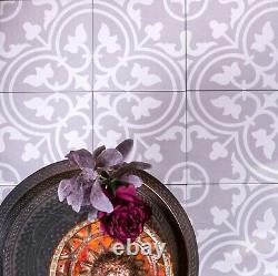 Échantillons D'échantillons Paris Gris Argenté Mur De Porcelaine Victorienne Marocaine & Carrelage