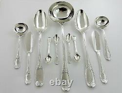 Énorme Cantine Wellington Argentée De Cutlery 12 Personne Service De Table Londres 1855