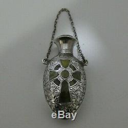 Ensemble De Pierres Celtiques De L'époque Victorienne Tardive, Bouteille De Parfum Pendante De Châtelaine, Birm 1898