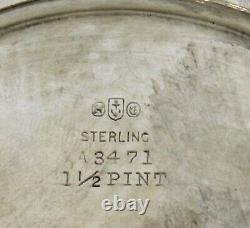 Ensemble De Thé Gorham Sterling 1906 Décoré À La Main