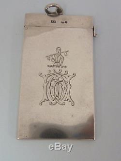 Etui À Cartes Sampson Mordan Victorien Argent Massif. Londres 1884