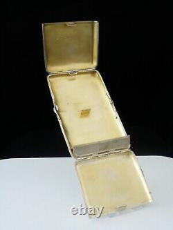 Étui Antique De Cigarette D'argent Incorporant Le Cas De Vesta, Wright Et Davies 1886