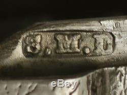 Étui Vesta Antique De L'époque Victorienne En Argent Par Samuel M Levi 1890 Birmingham