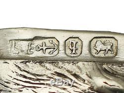 Étui Vesta 'silver Boar' En Argent Sterling D'époque Victorienne