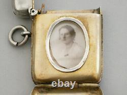 Étui Victorien Vesta Argenté Avec Compartiment Photo Caché. Chester En 1898