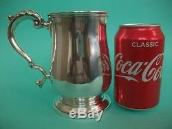 Extra Large, Solide Antique Silver 1 Pinte Tankard / Tasse, Londres 1898, 358 Grammes