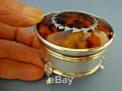 Fin 19thc Antique Silver Victorian Sterling Ring Table Box, H / M Birm 1899