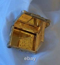Fine Qualité Antique 1844 Victorian Edward Smith Hm Argent/gilt Vinaigrette