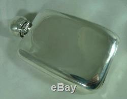 Flasque Victorien Argenté John Edward Wilmot Birmingham 1899 182g A602017