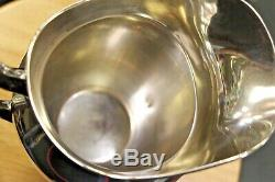 Gorham # 182 Sterling Silver 4 1/4 Pint Pitcher 8 3/4 Grand Livraison Gratuite