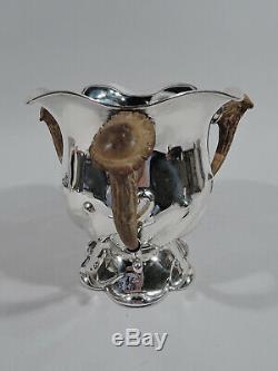 Gorham Trophy A1956b Antique Big American Game En Argent Sterling Antler Corne