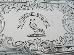 Grand Argent Vinaigrette, Dread Dieu Crest, Birmingham 1876, Monro Crest